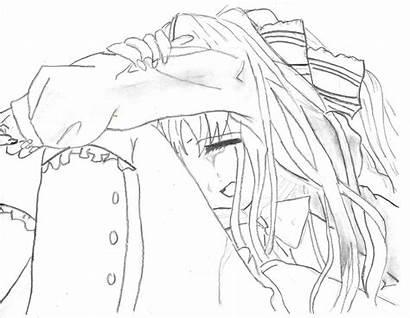 Crying Sad Anime Drawing Getdrawings