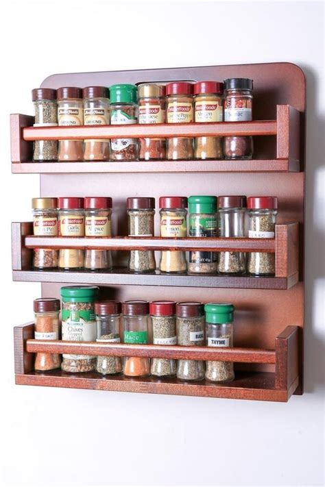Wooden Spice Rack by Wooden Spice Rack Open Top 3 Tiers Wooden Bar 54