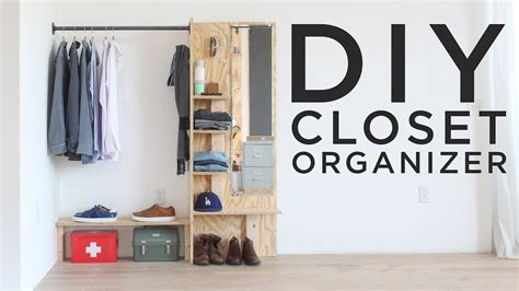 diy closet organizer youtube