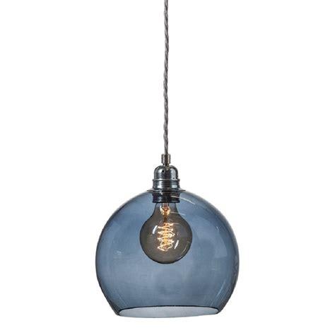 blue pendant light blue transparent glass globe ceiling pendant with