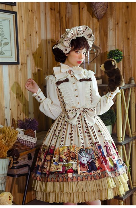 forest post office classic lolita jsk dress  lolita dress