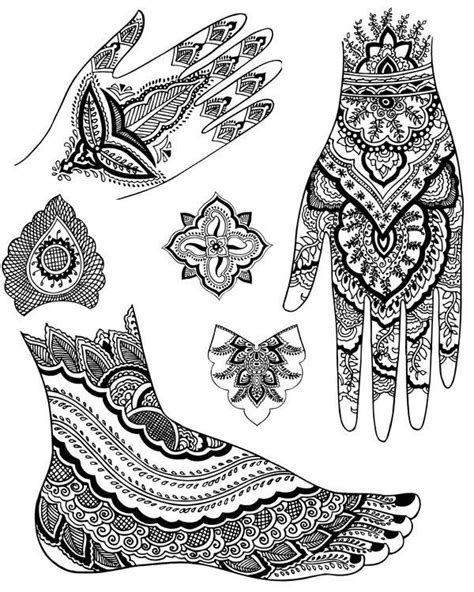 Mehndi Designs | Shoes ~ Feet ~ Hands Colouring Pages ~ Zentangles | Mehndi, Mehndi designs
