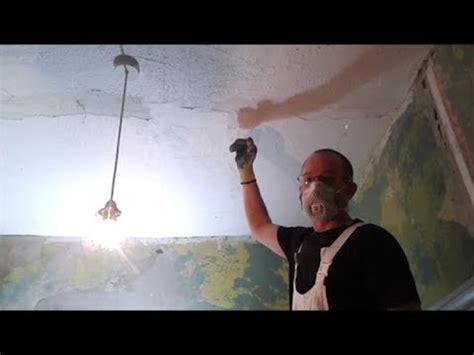 removing artex  ceilings steam stripper tips youtube