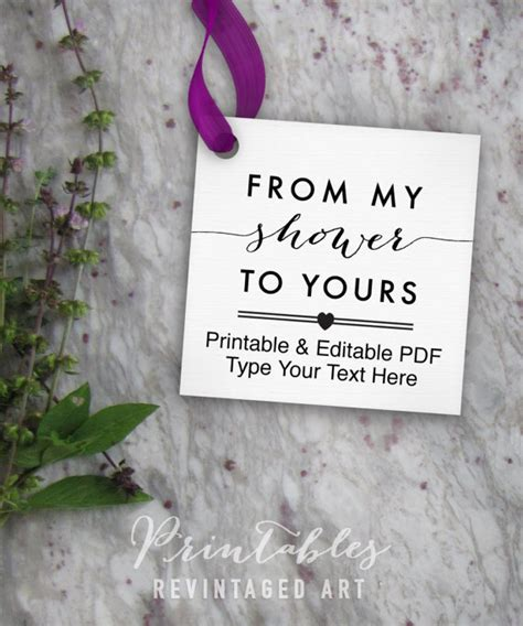 from my shower to yours tags printable editable favor tag baby shower or bridal shower