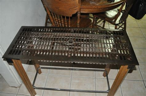 table i made from floor furnace grate things i made tables and floors
