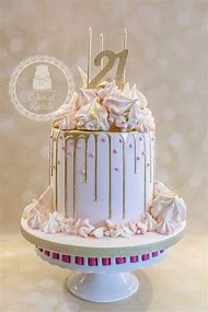 Pink And Gold 21st Birthday Cake Ideas