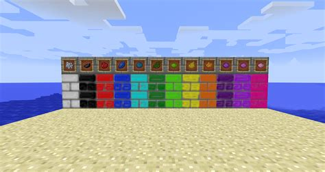 minecraft dye colors dyablestone dye your bricks minecraft mods