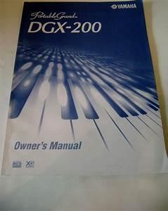 Yamaha Dgx 200 Owner U0026 39 S Manual Electronic Keyboard Portable