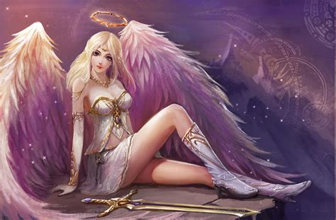Hinanawi Tenshi, Angel, Fantasy Art, Sexy Wallpapers Hd