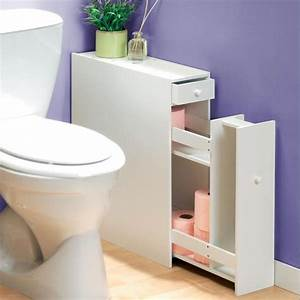 Petit Meuble Pour Wc : meuble organiseur toilette temps l ~ Teatrodelosmanantiales.com Idées de Décoration