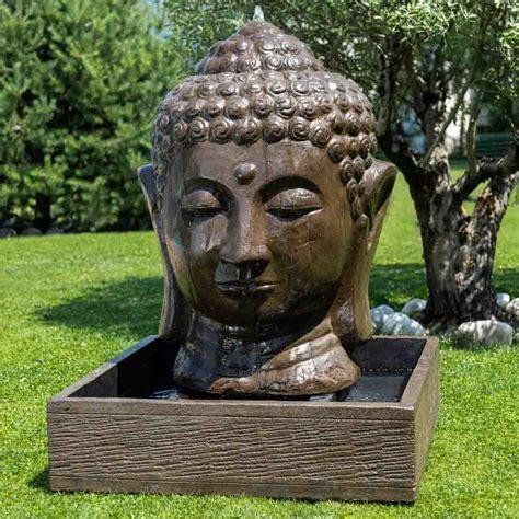 fontaine de jardin fontaine avec bassin tete de bouddha