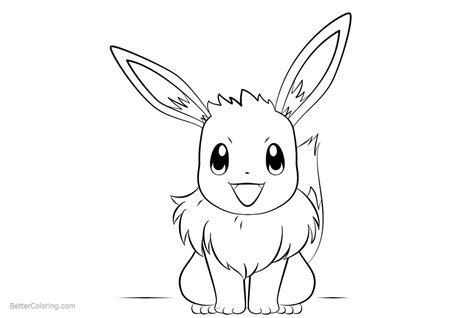 eevee coloring pages  art  printable coloring pages