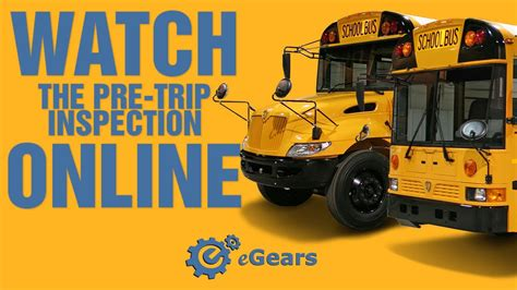 school bus pre trip inspection  cdl test youtube
