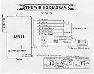Universal Keyless Entry Wiring Diagram