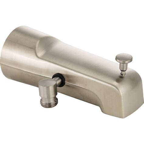 Delta Tub Faucet Diverter by Delta Pull Up Diverter Tub Spout In Stainless U1010 Ss Pk