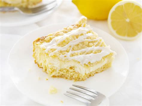 Lemon cream cheese coffee cake is a delicious dessert meant to be eaten any time of day. Lemon Cream Cheese Coffee Cake | i am baker