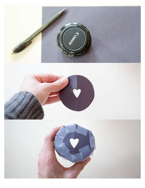 diy heart bokeh photography effect blissfully domestic