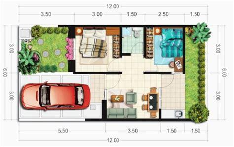 contoh denah rumah minimalis type  berbagai model
