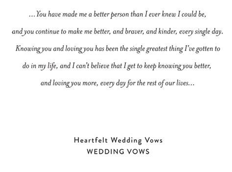beautiful wedding vows    heard snippet