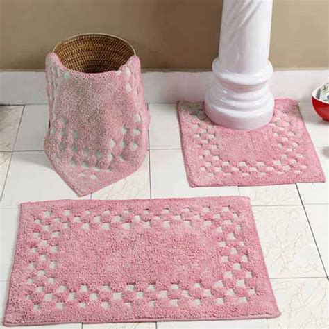 Pink Bathroom Rug Set by Pale Pink Bath Mat Set Bathroom Design Ideas
