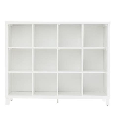 Cube Bookcase White by Cubic Bookcase White 12 Cube The Land Of Nod