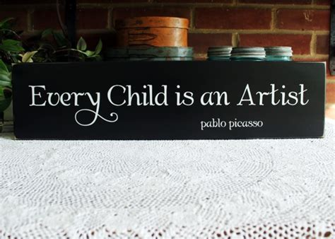child   artist wood sign painted wall decor