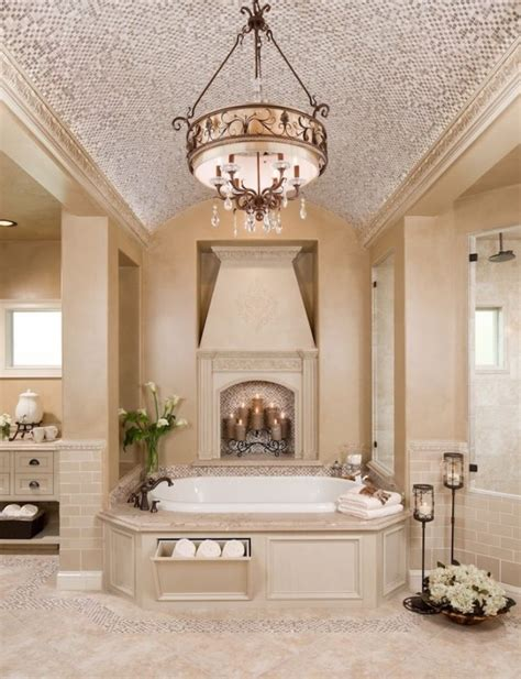 creamy toned bathroom  garden tub bathroom decor
