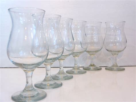 1950s set of 6 libbey vintage libbey wine goblets clear glass set of 6 libbey