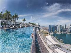 Singapore Hotel With Infinity Pool On Rooftop Image Sands Infinity Pool In Singapore Is The Largest Outdoor Infinity Pool