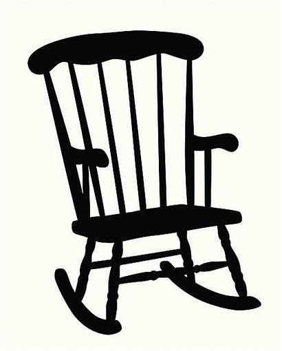 Rocking Chair Silhouette Vector Clip Illustration Illustrations