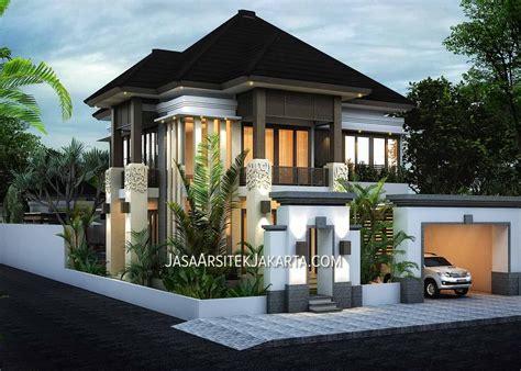 desain rumah luas    lantai  jasa arsitek