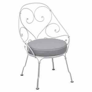 Fauteuil Cabriolet Gris : fauteuil cabriolet de fermob coussin gris flanelle blanc ~ Teatrodelosmanantiales.com Idées de Décoration