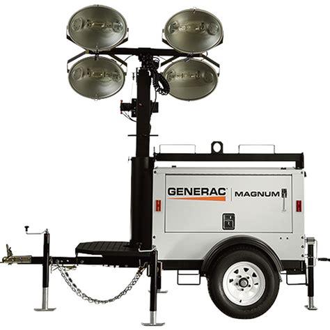 magnum light towers generac magnum mlt3060kv mobile light tower 6000 watts