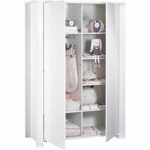 Armoire De Bébé : armoire chambre b b loft blanc de sauthon meubles sur ~ Melissatoandfro.com Idées de Décoration