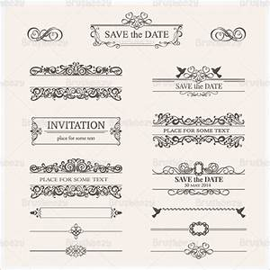wedding invitation photoshop psd templates download With wedding invitation brushes free