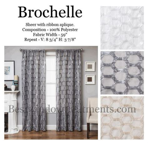 brochelle sheer curtains with honeycomb tile style drapery