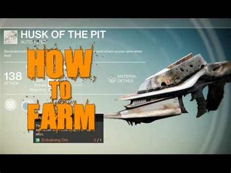 destiny how to farm husk of the pit cp fun music