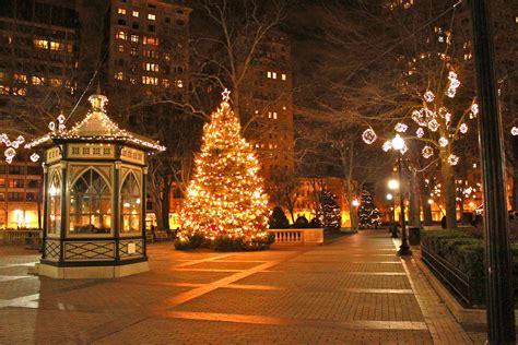 christmas photography backgrounds city lights street