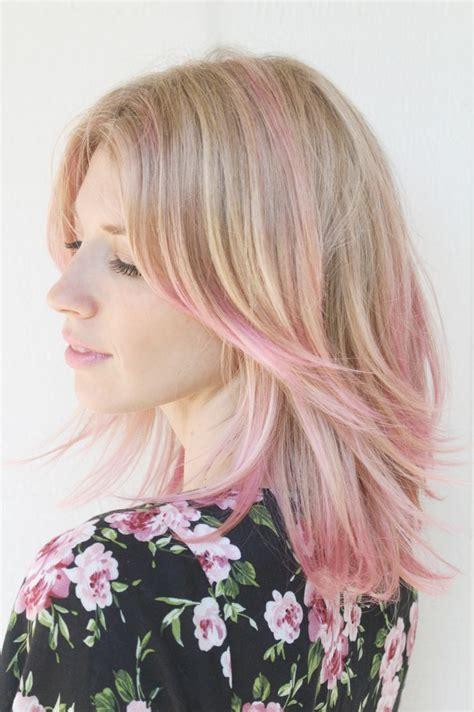 Best 25 Pink Hair Highlights Ideas On Pinterest