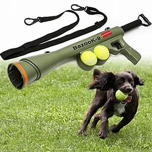 OxGord BazooK-9 Tennis Ball Launcher Gun with 2 Squeaky ...