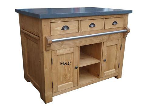meuble central de cuisine ilot central de cuisine plateau faon ardoise