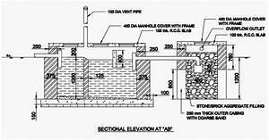 Septic Tank Drawing  Septic Tank  Soak Pit Drawing  Soak
