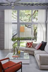 Simple Modern House with Natural Environment living room ...