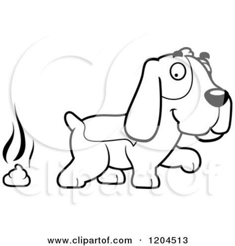 cartoon clipart   black  white stinky pile  poop character vector outlined coloring