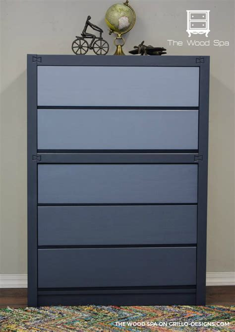 diy blue ombre dresser tutorial   boys bedroom