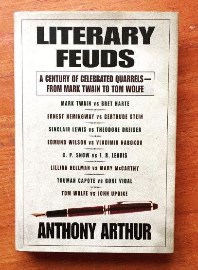 Literary Feuds By Anthony Arthur Stuck In A Book