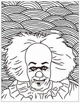 Coloring Clown Pennywise Horror Pages Halloween Movies Adult King Dancing Classic Stephen Supercenter Novel 1986 Costume Source Costumes Find sketch template