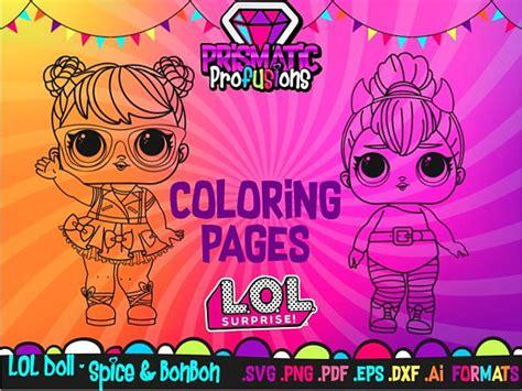 lol surprise doll coloring pages spice  bonbon svg