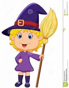 Cute cartoon witch stock vector Illustration of orange 33235515