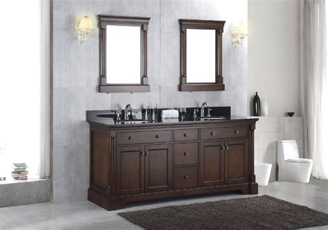 New Solid Wood Double Bathroom Sink Vanity Cabinet W Small Town Christmas Decorations For Homes Large Hanging Decorative Cookie Recipes Home Decor Catalogs Lights Room Decoration Chinese Battery Powered